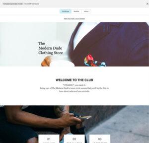 MailChimp kampagne - Desktop preview
