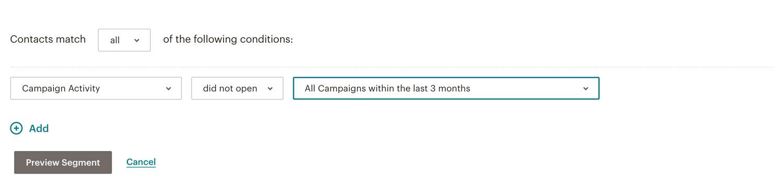 Opret segment i MailChimp