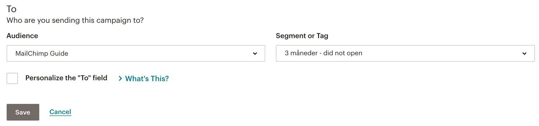 Vælg et segment